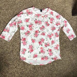 Forever 21 flower sweatshirt